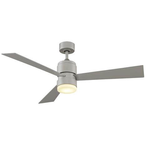 outdoor ceiling fan no light shop fanimation zonix led 54 in brushed nickel integrated