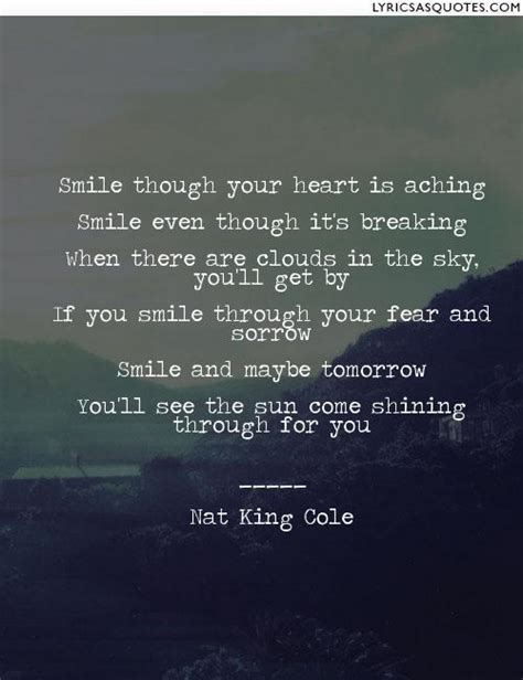 Smile Though Your Heart Is Breaking Quotes