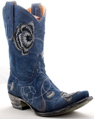 blue denim cowboy boots  cowboys  pinterest