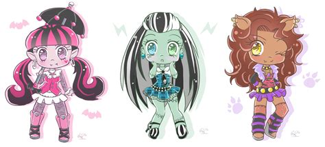 Monster High Chibis By Forbiddendesirers On Deviantart