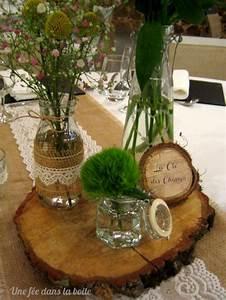 Centre De Table Mariage : mariage campagne chic gros plan sur le centre de table ~ Melissatoandfro.com Idées de Décoration
