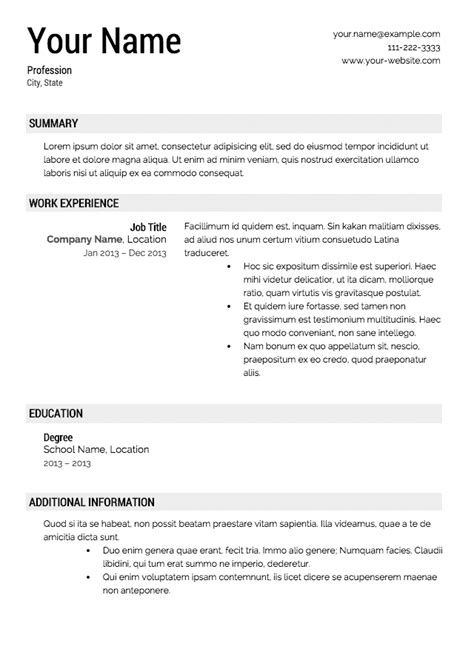 Free Resume Template by Resume Builder Template Beepmunk