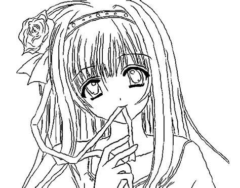 disegni da colorare anime disegno di ragazza anime da colorare acolore