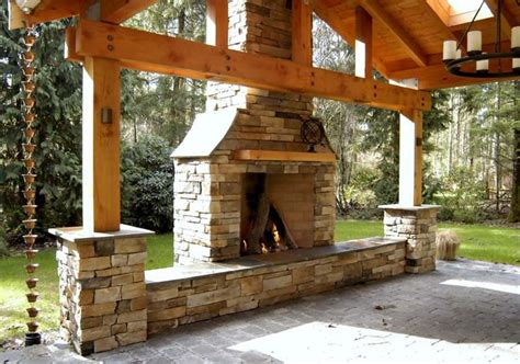 outdoor chimneys fireplaces rumford chimney outdoor chimney front seating drystack yard design pinterest decking