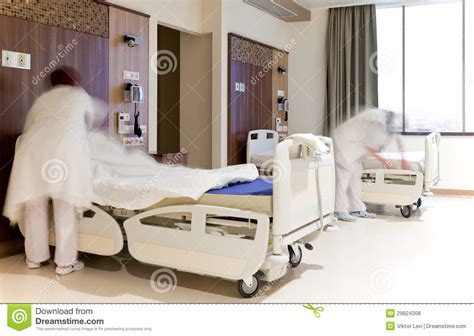 hospital beds chords fixing hospital beds room royalty free stock photos
