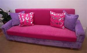 hot pink purple sofa bed 204cm girls bedroom storage click With hot pink sofa bed