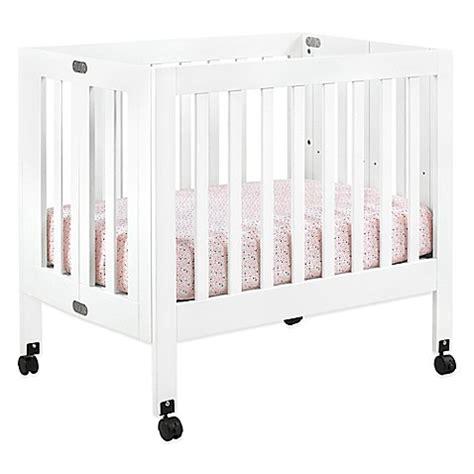 babyletto mini crib babyletto origami mini crib in white buybuy baby