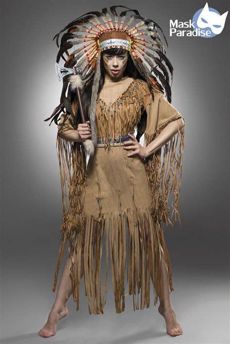 indianerin kost 252 m american fasching karneval damen