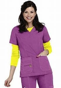Greys Anatomy 3 pocket mock wrap scrub top