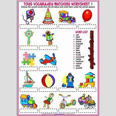 Toys Esl Printable Vocabulary Matching Exercise Worksheets For Kids #toys #esl #printables