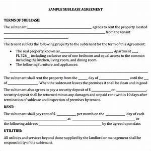 Sublease agreement 22 download free documents in pdf word for Office sublease agreement template