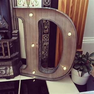rustic barn style giant wooden led light up letter lights With rustic letter lights
