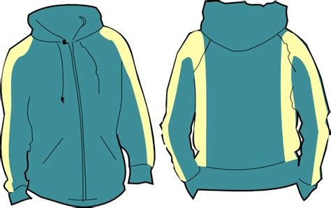 Hoodie Clipart Green Hoodie Clip At Clker Vector Clip
