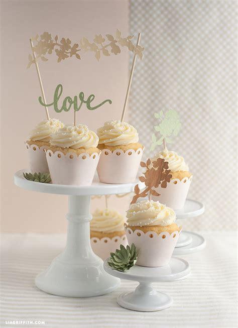 diy wedding cake  cupcake topper lia griffith