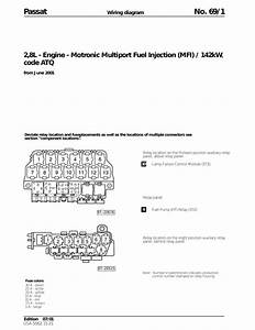 Vw Passat B5  2 8l Engine Atq Motronic Mfi  Eng