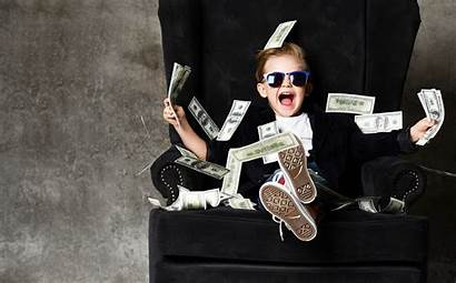 Money Rich Kid Financial Cash Rain Boy