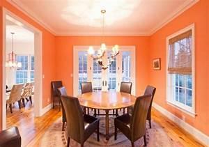 Peinture salle a manger 77 idees charmantes for Salle a manger orange