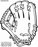 Baseball Glove Pages Coloring Print Colorings sketch template