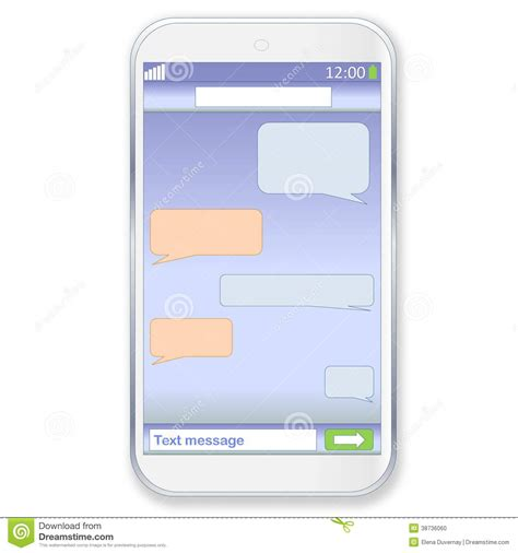 Mobile Chat by Smartphone Chat Stock Illustration Illustration Of