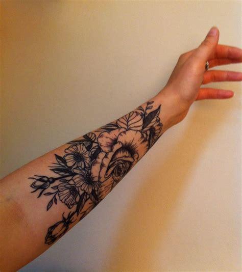 vintage flowers tattoo  sleeve lots   work