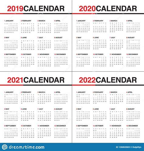 year calendar vector design template stock vector