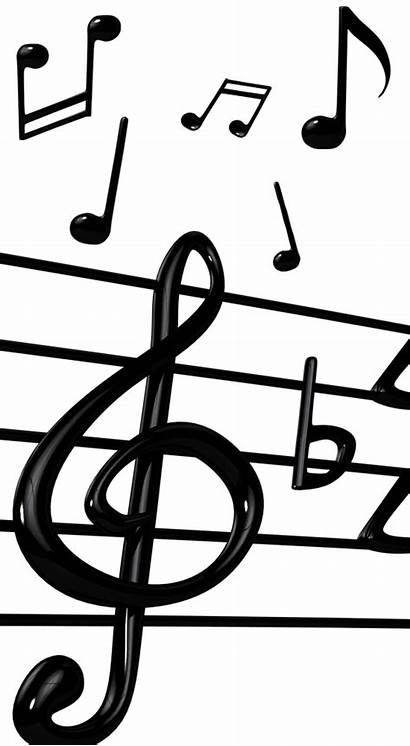 Notes Note Template Musical Bold Printable Clipart