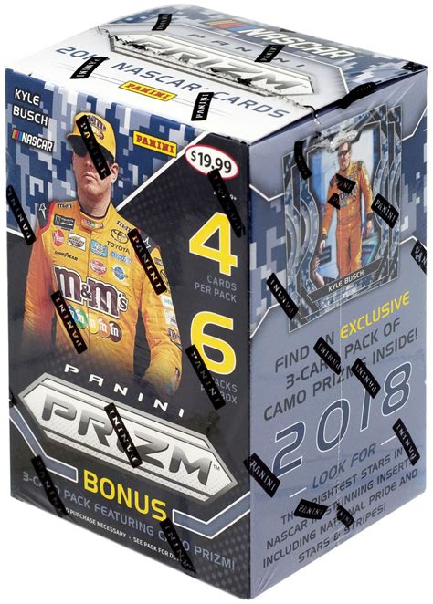 Gaining fans and followers with each passing decade, nascar has brought us some of the most exciting and recognized series of the year, including the sprint cup series and the xfinity series. NASCAR Panini 2018 Prizm Trading Card BLASTER Box - Walmart.com - Walmart.com