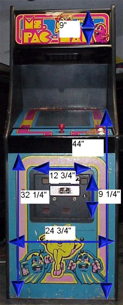 Galaga Arcade Cabinet Dimensions by Wouter S Page Arcade Cabinet Dimensions