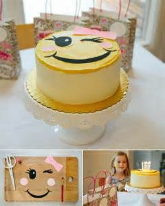 Emoji Birthday Party Cake