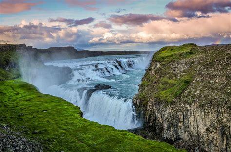 Gullfoss Waterfall Backgrounds gullfoss waterfall hd wallpaper background image