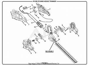 Homelite Ry24600 24 Volt Hedge Trimmer Parts Diagram For