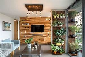 Warmth, And, Texture, 10, Unique, Living, Room, Wood, Accent, Walls