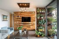 excellent family room accent wall Warmth and Texture: 10 Unique Living Room Wood Accent Walls