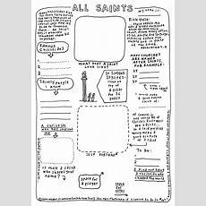 Cartoon Worksheet All Saints Cartoonchurchcom