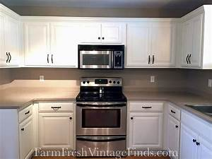 gf linen milk painted kitchen cabinets general finishes With kitchen colors with white cabinets with transfer stickers for wood