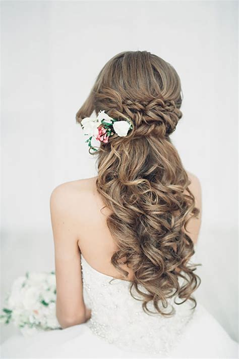 20 stunning half up half down wedding hairstyles with