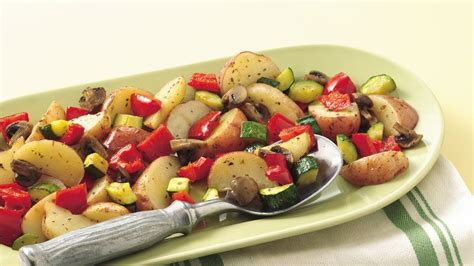 Oven-roasted Potatoes And Vegetables Recipe