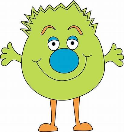 Monster Clip Funny Clipart Fuzzy Cartoon Happy