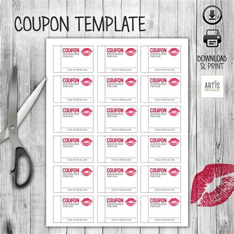 printable coupon booklet   perfect gift