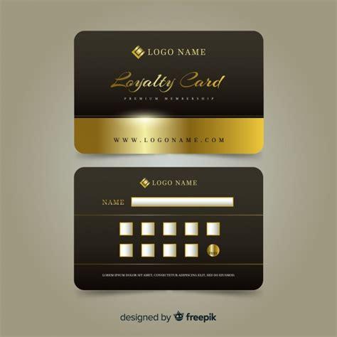 premium loyalty card  golden style vector