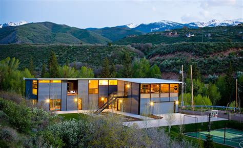 House In Aspen by Flatpak Luxury Prefab House In Aspen Colorado
