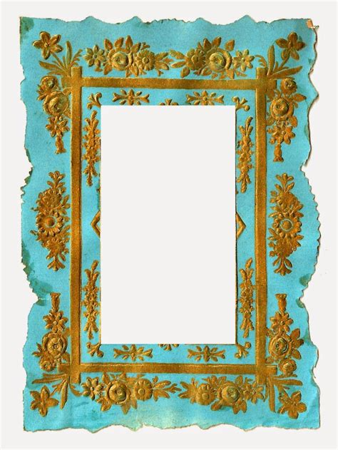 Clipart Photo by Digital Vintage Frame Clip Of Blue And Gold Background