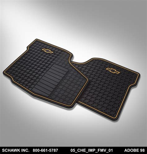 Chevy Impala Floor Mats 2012 by Floor Mats Front Premium All Weather Bowtie Logo