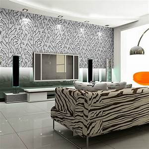 Beautiful Black and White Patterned Home Wallpaper ...