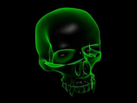 Green Skull Wallpaper Wallpapersafari