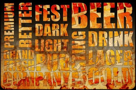 beer background text stock photo colourbox