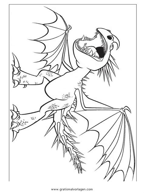 dragon trainer  gratis malvorlage  comic trickfilmfiguren drachenzaehmen ausmalen