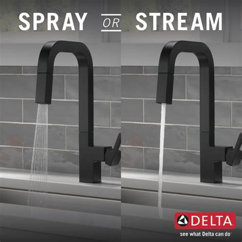 single handle pull  kitchen faucet lf bl delta