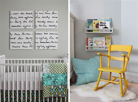 neutral gray and yellow nursery inspired by this