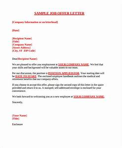 25 job offer letter example free premium templates With executive offer letter template